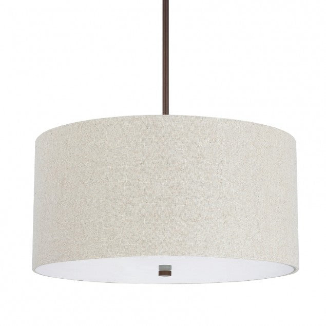 Tan Drum Shade Pendant
