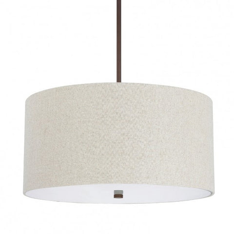 Loft Drum Pendant in Burnished Bronze by Capital Lighting 3922BB-613
