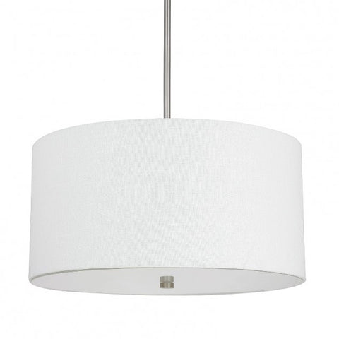 Capital Lighting Matte Nickel Loft Drum Shade Pendant 3922MN-623