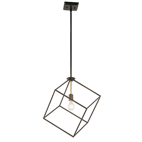 1-Light Cartone Pendant in Olde Bronze by Kichler Lighting 42525OZ