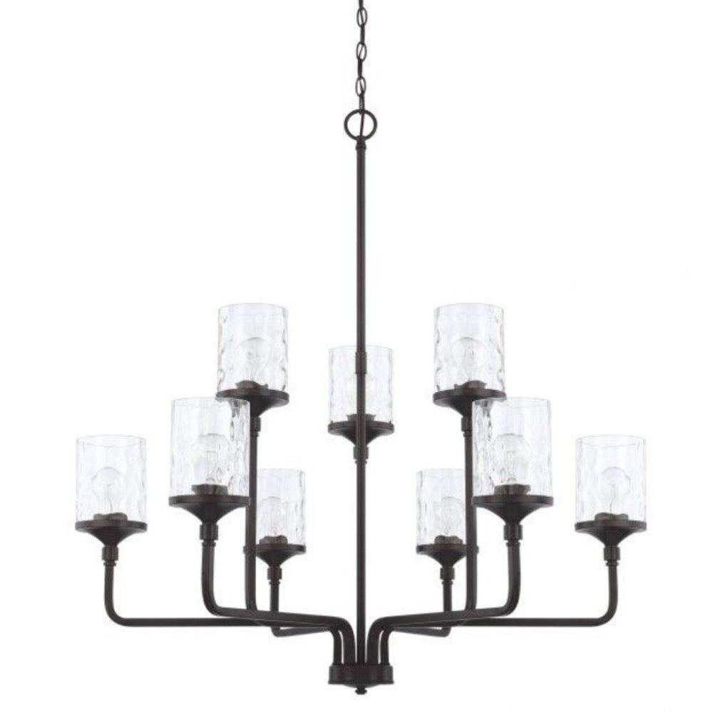 Colton 9-Light Chandelier, Chandelier, Matte Black