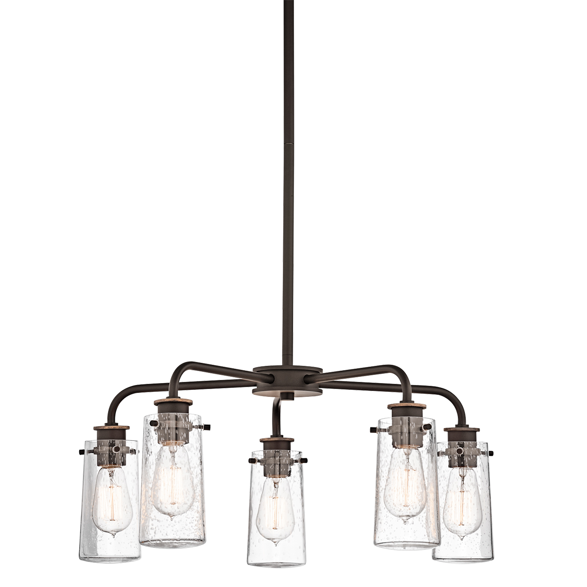 6 Light Braelyn Chandelier in Olde Bronze, by Kichler, 43058OZ