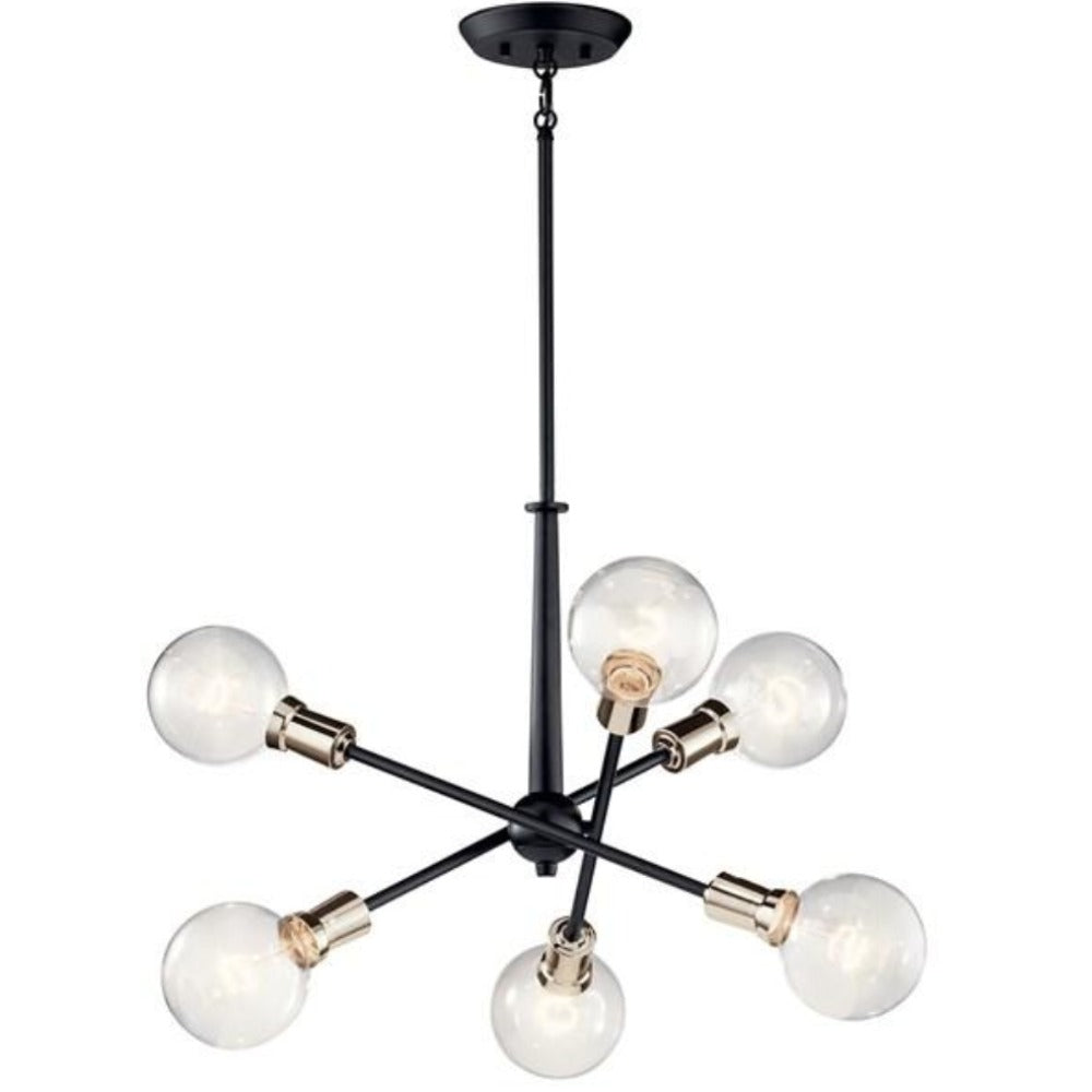 Armstrong 6-Light Chandelier, Chandelier, Black