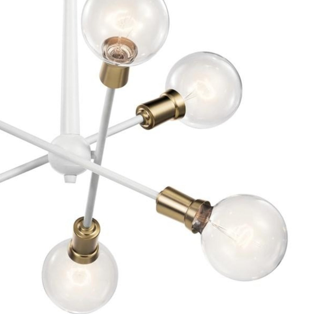 Armstrong 6-Light Chandelier, Chandelier, White