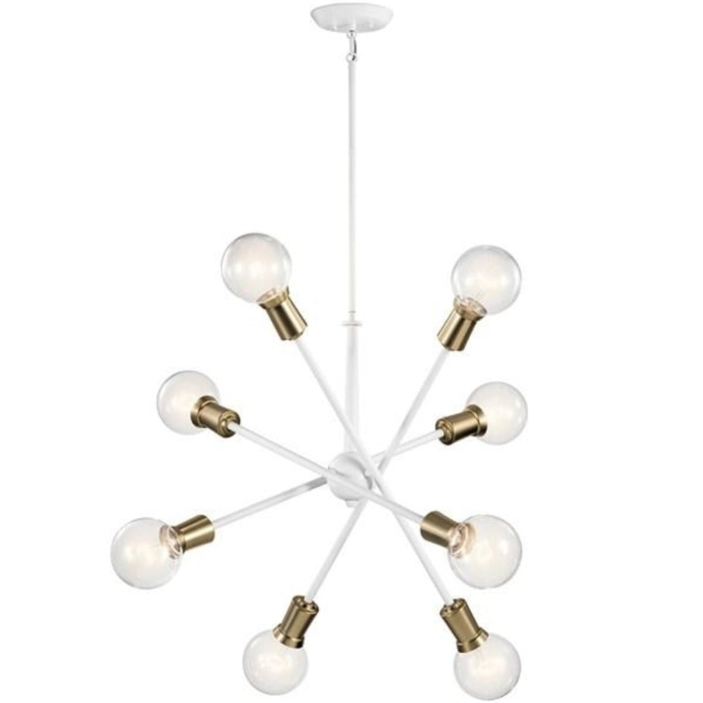 Armstrong 8-Light Chandelier, Chandelier, White
