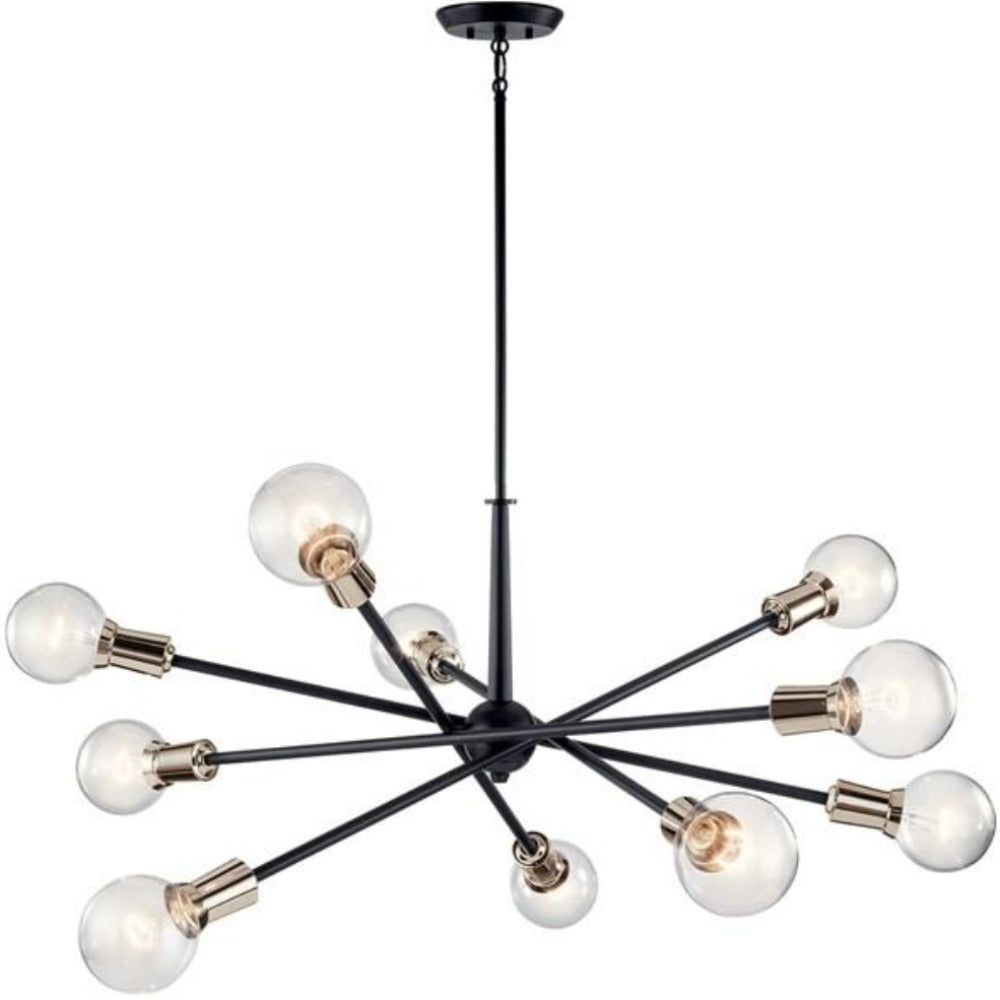 Armstrong 10-Light Chandelier, Chandelier, Black