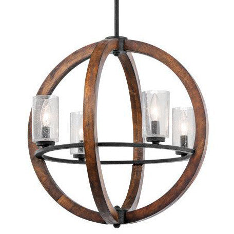 Auburn Stained 4 Light Grand Bank Orb Chandelier by Kichler 43185AUB