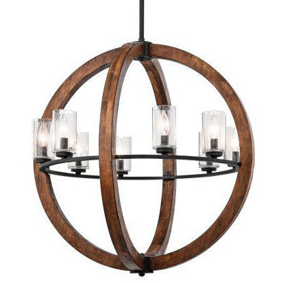 Auburn Stained 8 Light Grand Bank Orb Chandelier by Kichler 43190AUB