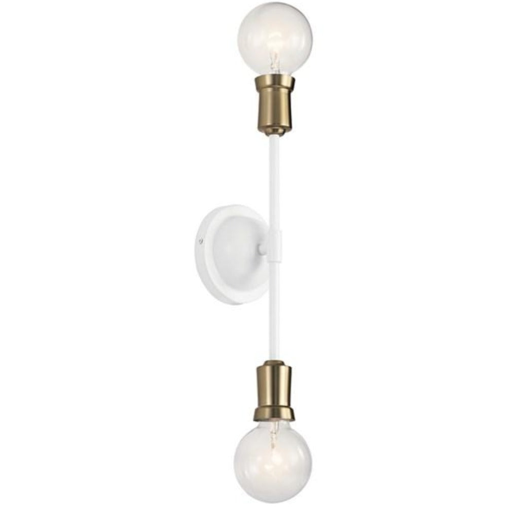 Armstrong 2-Light Sconce, Sconce, White