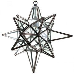 Moravian Clear Glass Star of Bethlehem