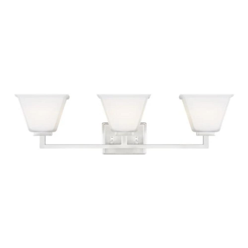 Poppy 3-Light Vanity, Vanity, Brushed Nickel