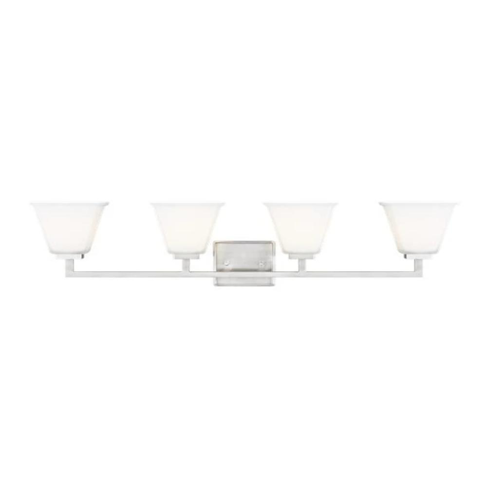 Poppy 4-Light Vanity, Vanity, Brushed Nickel