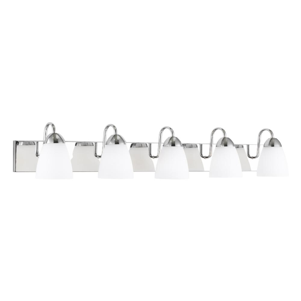 Barton 5-Light Vanity, Vanity, Chrome