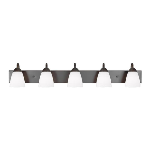 Barton 5-Light Vanity, Vanity, Bronze