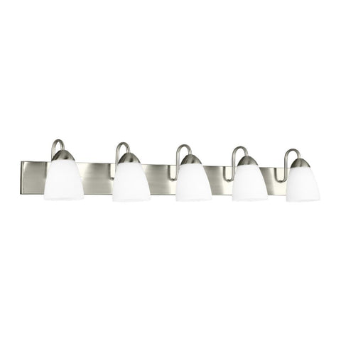 Barton 5-Light Vanity, Vanity, Brushed Nickel