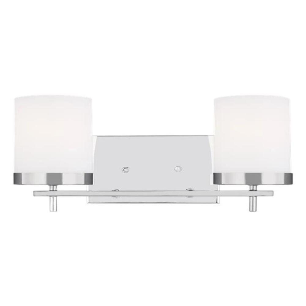 Huntington 2-Light Vanity, Vanity, Chrome
