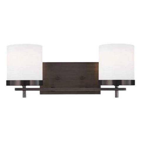 Huntington 2-Light Vanity, Vanity, Oil Brushed Bronze