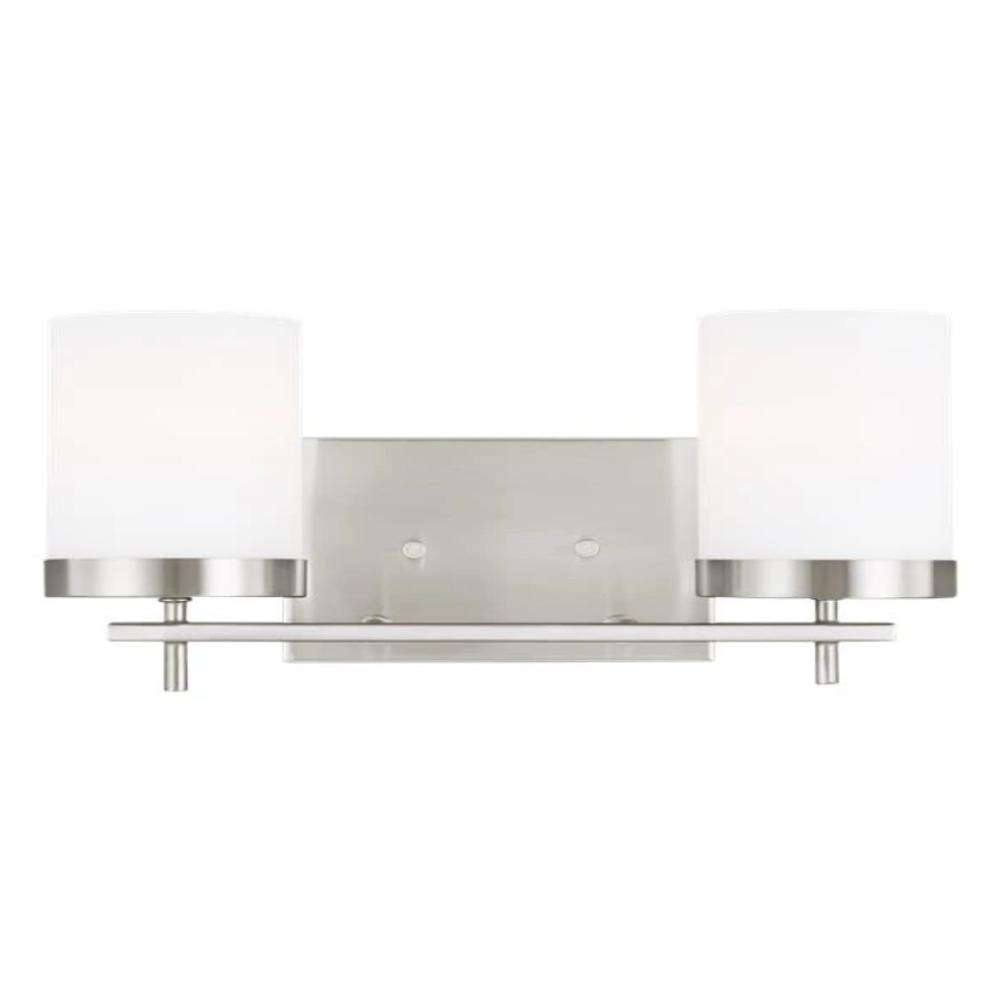 Huntington 2-Light Vanity, Vanity, Brushed Nickel