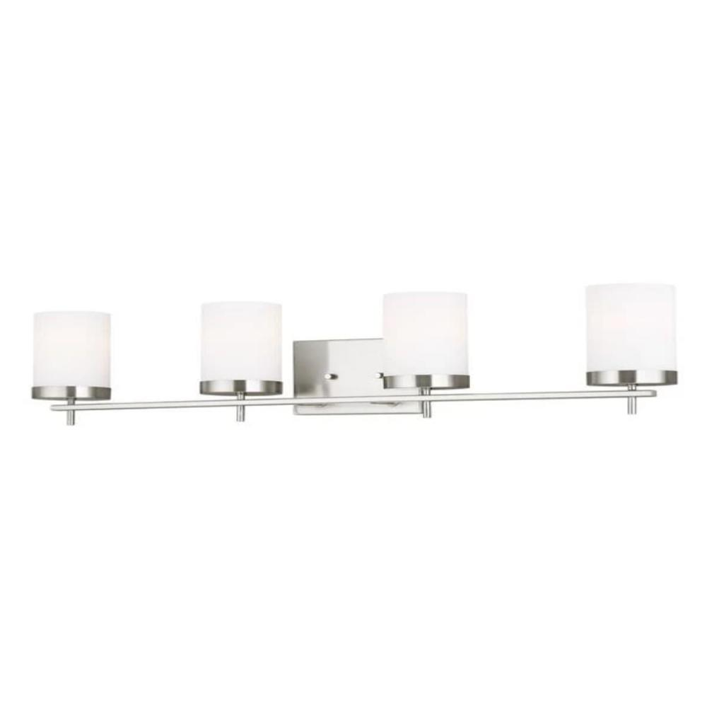 Huntington 4-Light Vanity, Brushed Nickel