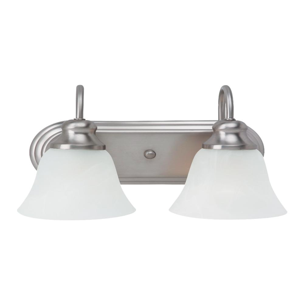 Cambria 2-Light Vanity, Vanity, Brushed Nickel