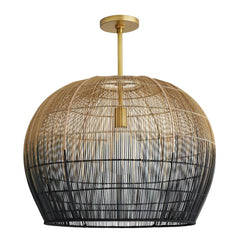 Lotte Pendant, Pendant, 	Natural and Black Ombre