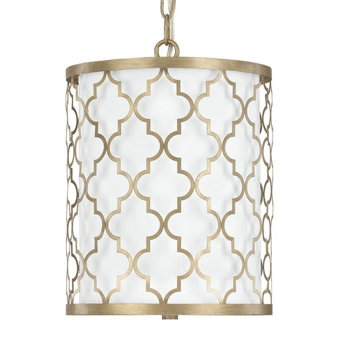 Ellis Drum 2 Light Pendant in Brushed Gold by Capital Lighting 4544BG-579