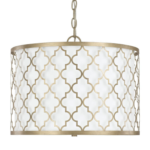 Ellis Drum 3 Light Pendant in Brushed Gold by Capital Lighting 4545BG-582