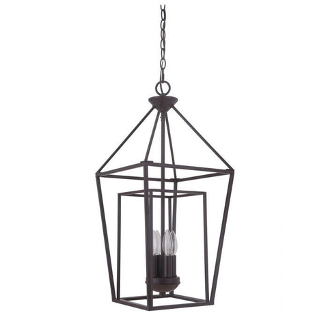 Hudson 4 Light Cage Pendant in Oil Rubbed Bronze by Artcraft 45834-OB