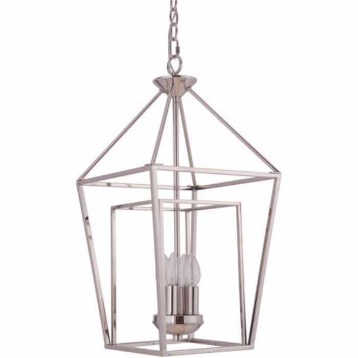 Hudson 4 Light Cage Pendant in Polished Nickel by Artcraft 45834-PLN