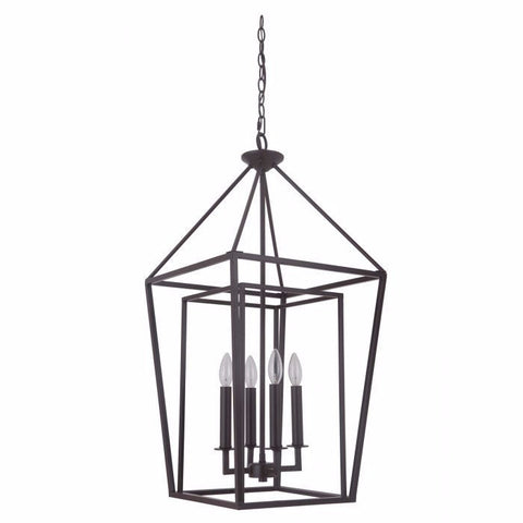 Hudson 4 Light Cage Pendant in Oil Rubbed Bronze by Artcraft 45835-OB