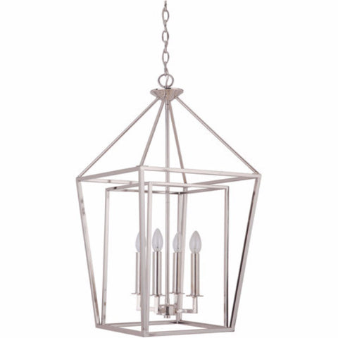 Hudson 4 Light Cage Pendant in Polished Nickel by Artcraft 45835-PLN