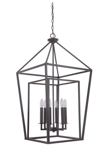 Hudson 6 Light Cage Pendant in Oil Rubbed Bronze by Artcraft 45836-OB