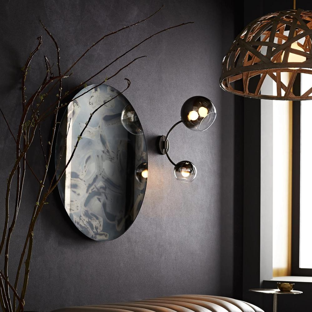 Lifestyle Shot of Orson Sconce, 2-Light Sconce, Chrome Ombre