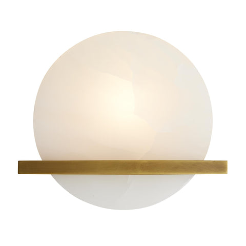 Savion White Onyx & Brass Sconce
