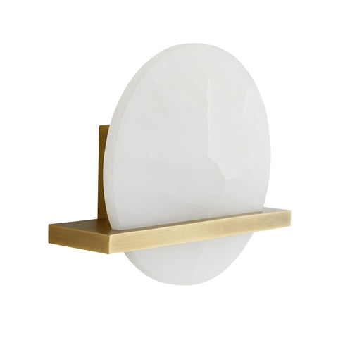 Kaizo White Onyx & Brass Sconce