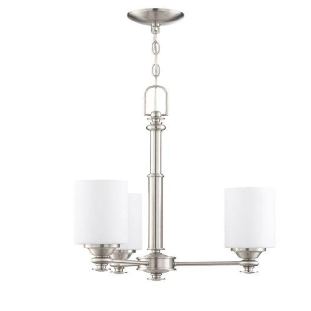 Morrison 3-Light Chandelier, Chandelier, Brushed Nickel