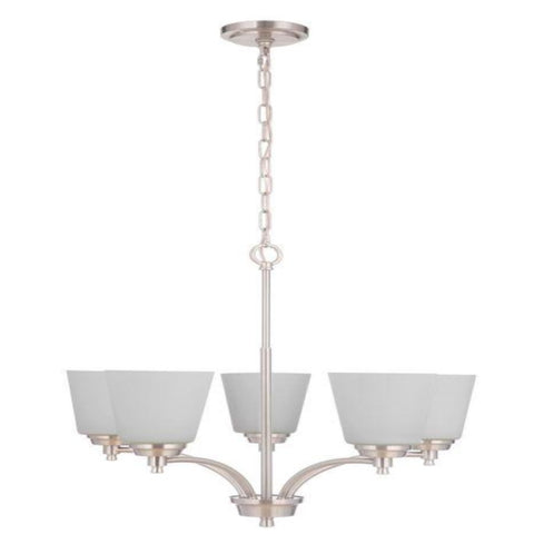 Sutton 5-Light Chandelier, Chandelier, Brushed Nickel