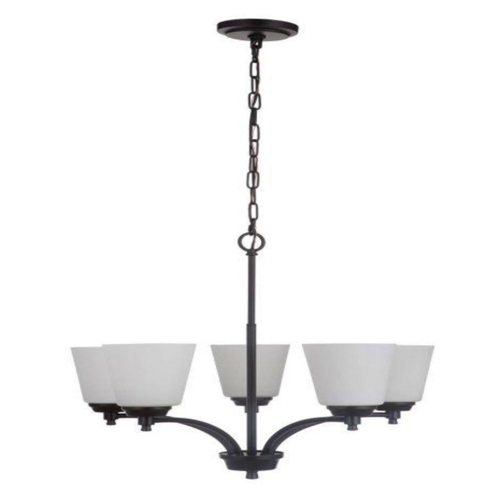 Sutton 5-Light Chandelier, Chandelier, Matte Black