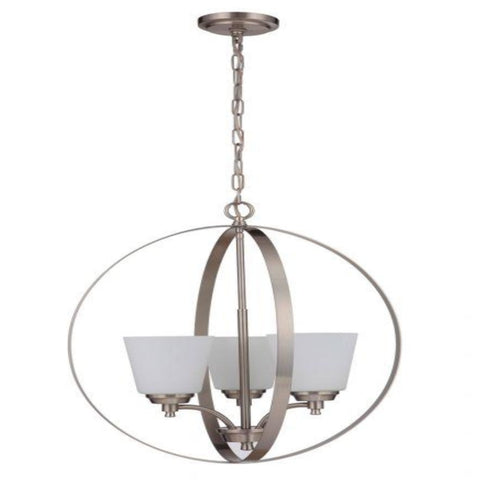 Sutton Orb Chandelier, Chandelier, Brushed Nickel