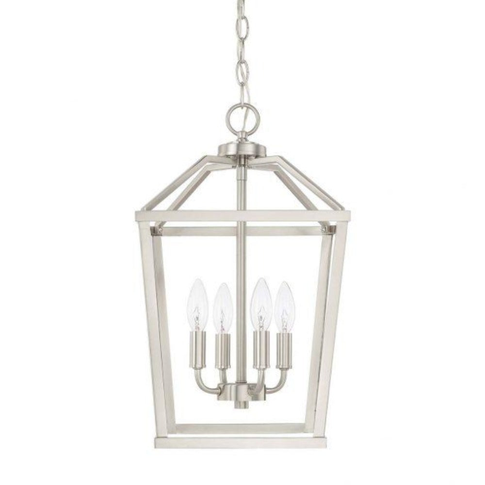 Balboa 4-Light Foyer, Pendant, Brushed Nickel