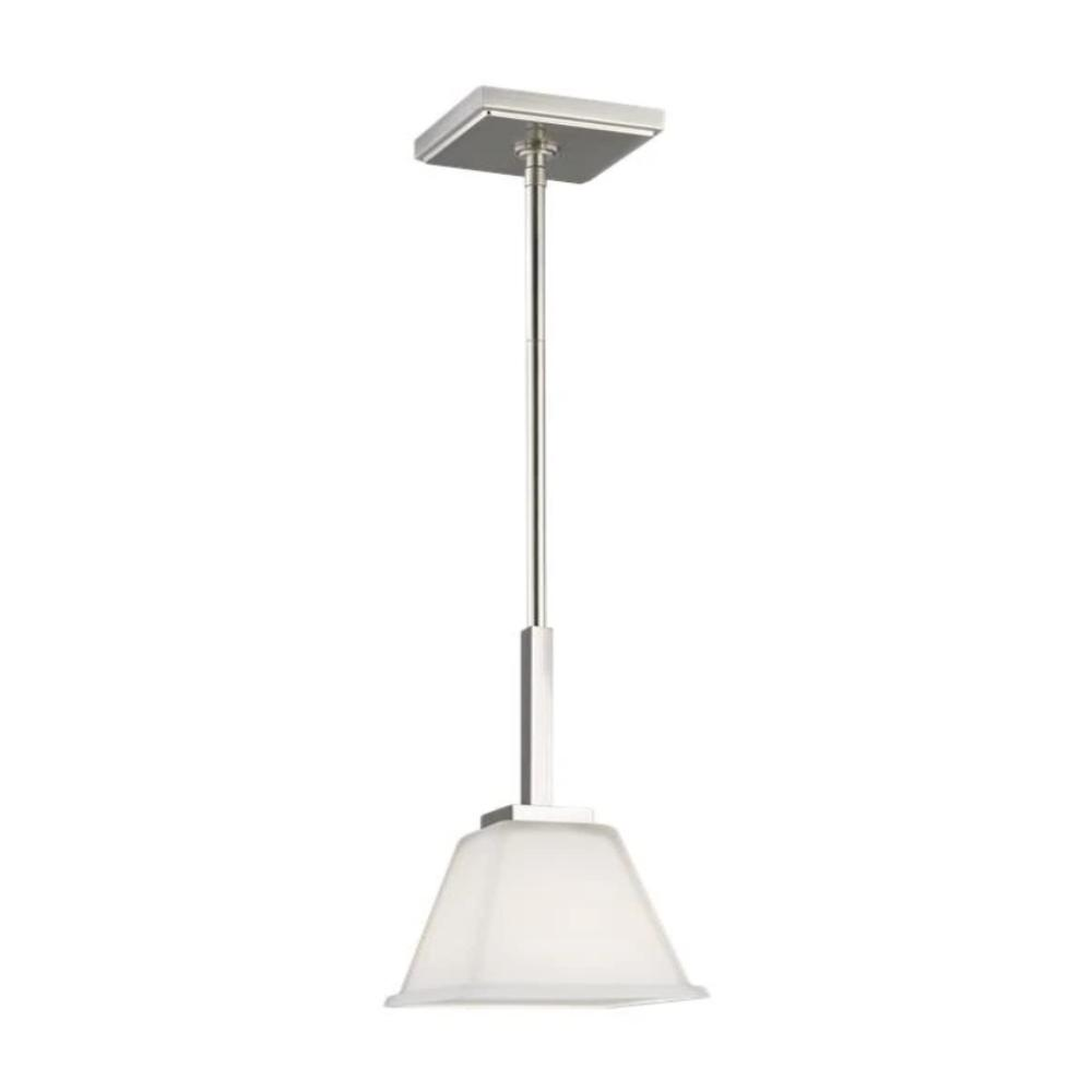 Poppy Mini-Pendant, Pendant, Brushed Nickel