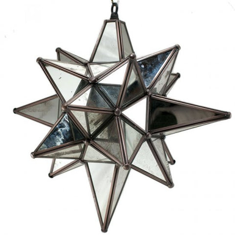 Moravian Antique Mirrored Star of Bethlehem
