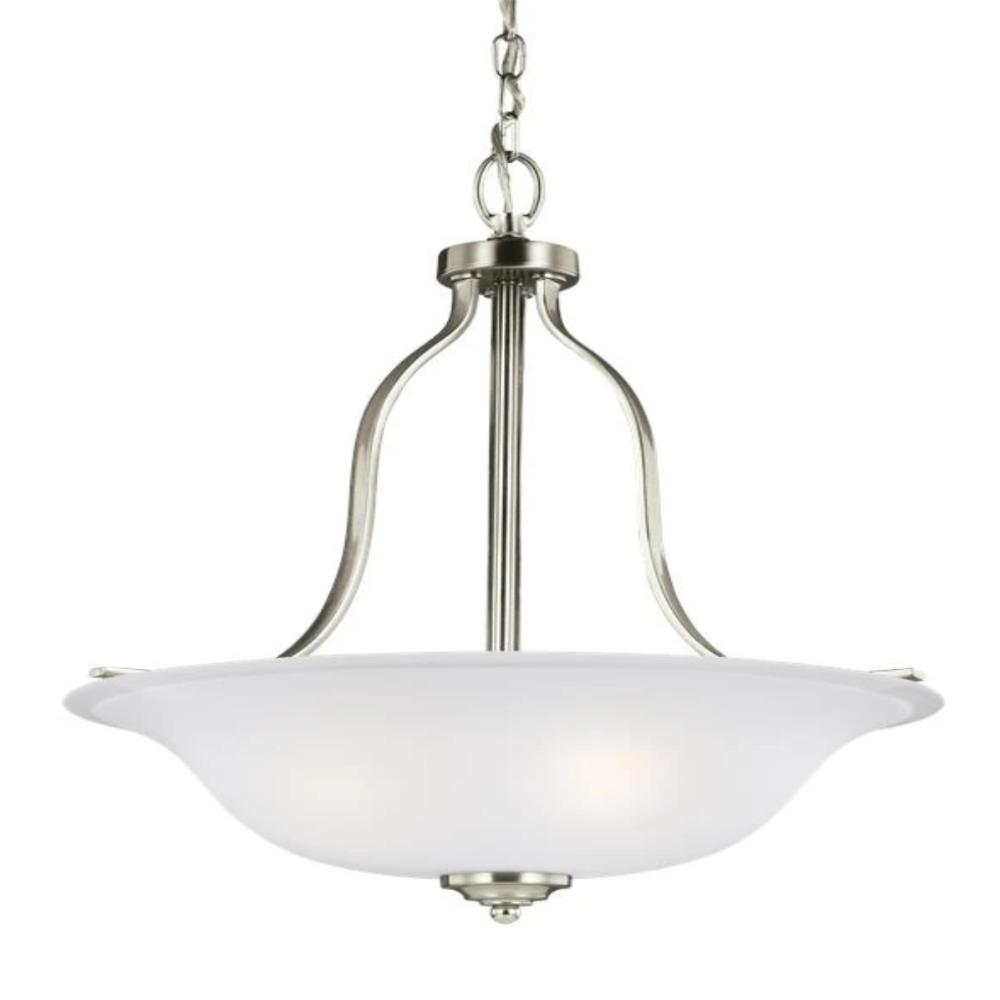 Hanover 3-Light Pendant, Pendant, Brushed Nickel
