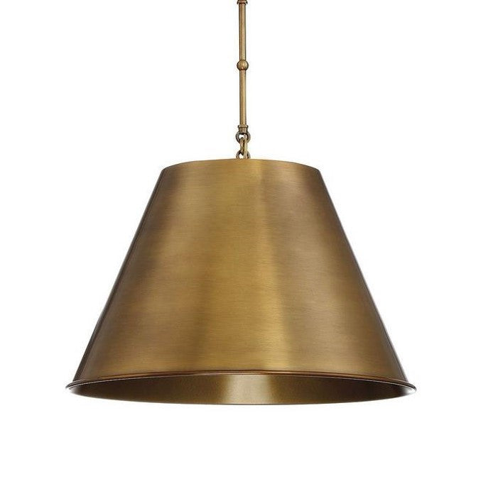 Alden Pendant by Savoy House in Warm Brass Finish 7-131-1-322