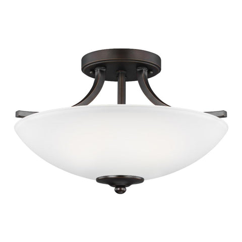 Barton 2-Light Semi-Flush Pendant, Pendant, Bronze
