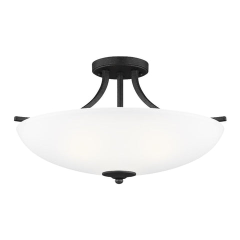 Barton 3-Light Semi-Flush Pendant, Pendant, Blacksmith