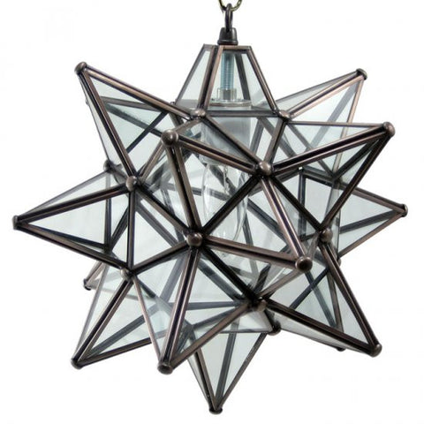 "12"" Moravian Clear Glass and Bronze Starlight 11CG-B"