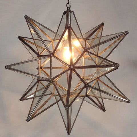 Moravian Clear Glass Star Light