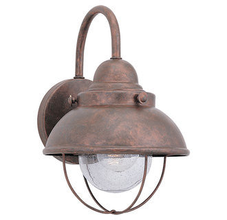 Sebring Nautical Outdoor Ceiling Mount by Sea Gull Lighting in Weathered Copper, 8870-44