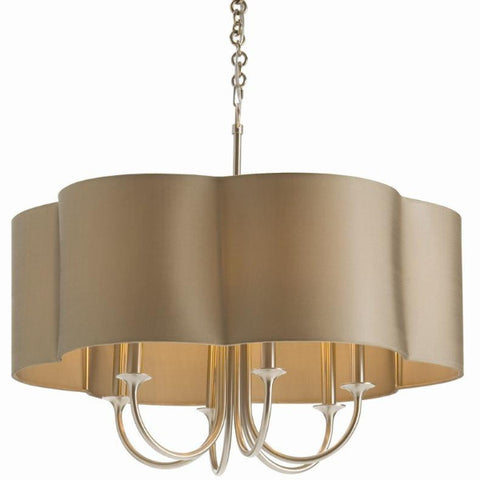 Rittenhouse Chandelier in Olive Gray and Antique Silver by Arteriors Home 89420 and 89408